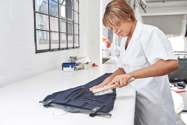 Personal Staff Member Cleaning Trousers