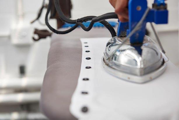 White Shirt Being Ironed